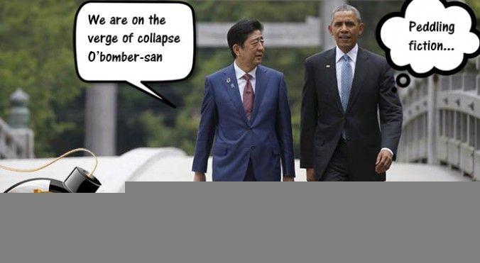 Abe A japán miniszterelnök is a közelgő válságra figyelmeztet.
